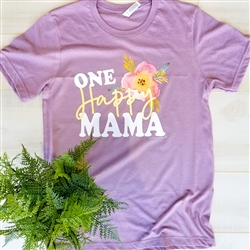 One Happy Mama... Vintage Boyfriend Tee Pack of 6