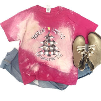 Rockin' Around The Christmas Tree Toddler t shirt. Southern boutique wholesale graphic tee clothing by Pink Armadillos. Printed on our super soft Bella Canvas tees.