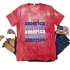 Retro America Vintage Boyfriend t shirt. Southern boutique wholesale graphic tee clothing by Pink Armadillos. Printed on our super soft Bella Canvas tees