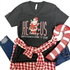 Santa Claus Is Coming To Town southern boutique wholesale graphic tee clothing by Pink Armadillos. Printed on our super soft Bella Canvas tees.