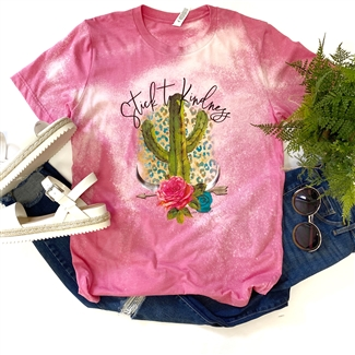 Stick To Kindness boutique wholesale graphic tee by Pink Armadillos