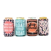 Summer Vibes Collection... 12 Ounce Koozie Pack of 4