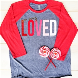 So Very Loved... Vintage Baseball Tee