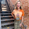 Thankful Pumpkin Stack t shirt. Southern boutique wholesale graphic tee clothing by Pink Armadillos. Printed on our super soft Bella Canvas tees.