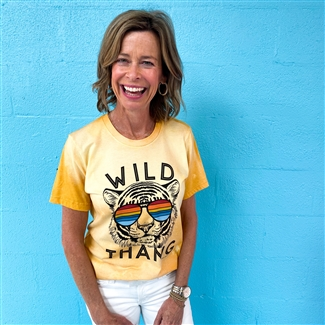 Wild Thang boutique wholesale graphic tee by Pink Armadillos