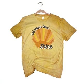 Let Your Soul Shine T shirt Southern boutique wholesale graphic tee clothing by Pink Armadillos. Printed on our super soft Bella Canvas tees.