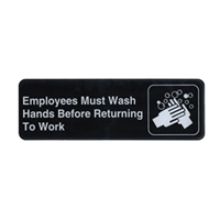 """Employees Must Wash Hands"" Sign"