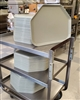 Used Fiberglass, Trapazoid Serving Trays - Cambro 1418TR