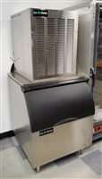 Used Ice Maker with Bin / Ice-O-Matic #GEM0450A