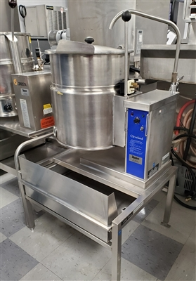 Used 12 Gallon Steam Kettle with Stand - Cleveland #KET-12-T