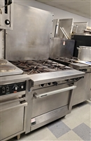 Used 4 Burner Range with Oven - Garland #M44R