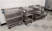Used Heavy Duty Stainless Steel Carts - Lakeside #722