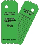 OSHA Scaffold Tag - Green