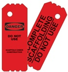OSHA Scaffold Tag - Red