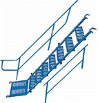 "7' Internal Stair Unit w/Handrails (fits 6' 4""T Frame)"