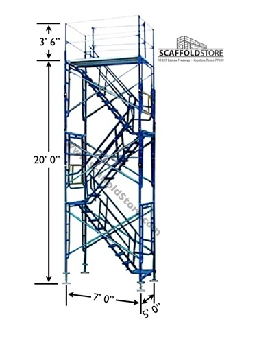 Perfect Scaffold Stair Tower