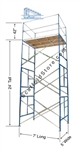20' Non-Rolling Scaffold Tower