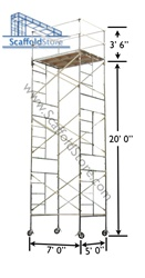 20' Rolling Scaffold Tower