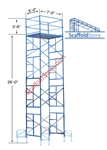 26' Non-Rolling Scaffold Tower