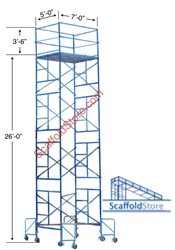 22' Rolling Scaffold Tower