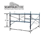 5'W x 2'T x 7'L  Mason Frame Scaffold Set