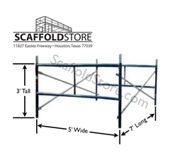 5'W x 3'T x 7'L  Mason Frame Scaffold Set