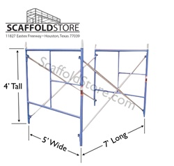 5'W x 4'T x 7'L  Mason Frame Scaffold Set