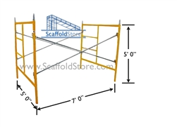 5'W x 5'T x 7'L Mason Scaffold Frame Set