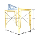 5'W x 6' 6'T x 7'L Walk-Thru Scaffold Frame Set