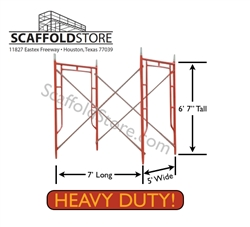 5'W x 6' 7'T x 7'L Heavy Duty Walk-Thru Scaffold Frame Set (Waco-Style)