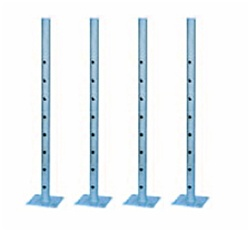 "Set of 4 - 24"" Extension Leg with Base Plate"