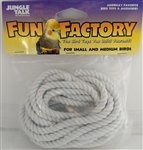 "JUNGLE TALK FUN FACTORY 3/16"" X 10' COTTON ROPE - SM & MD BIRDS UPC 728741260209"