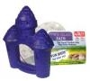 LIXIT SMALL DUST BATH SHAPED LIKE CASTLE. CAN USE AS PET HIDEOUT.