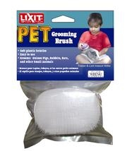 LIXIT SMALL ANIMAL GROOMING BRUSH WITH SOFT PLASTIC BRISTLES