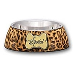 LOVING PETS SMALL MILANO BOWL - SPOILED LEOPARD PRINT  UPC 842928071032