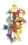 PET AG PINK PARROT 3 TIER W/WOOD & ROPE, LARGE