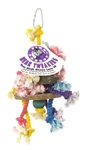 PET AG PINK PARROT 3 TIER W/WOOD & ROPE, SMALL