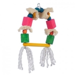 PET AG PINK PARROT SWING AWAY LOOFAH WOOD BLOCKS MED