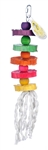 PET AG PINK PARROT RAINBOW WOODEN DISCS & BEADS MED