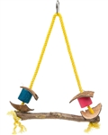 PET AG PINK PARROT EXOTIC WOOD SWING