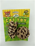 XPET ALL NATURAL CORN ROPE MOUSE & BALL 2 PK