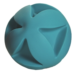 "**TEMPORARILY UNAVAILABLE** HUETER TOLEDO SOFT-FLEX® HEAVY DUTY SQUEAKER TOYS BEST CLUTCH BALL - 6"" - TEAL  UPC 095467056004 7.33"