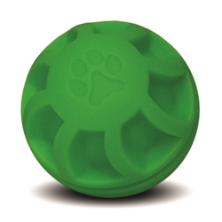 "**TEMPORARILY UNAVAILABLE** HUETER TOLEDO SOFT-FLEX® HEAVY DUTY SQUEAKER TOYS SWIRL BALL - 4"" - GREEN  UPC 095467057049 3.13"