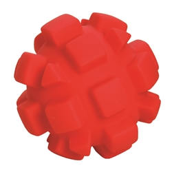 "**TEMPORARILY UNAVAILABLE** HUETER TOLEDO SOFT-FLEX® HEAVY DUTY SQUEAKER TOYS BUMPY BALL - 4"" - RED  UPC 095467059043 3.13"