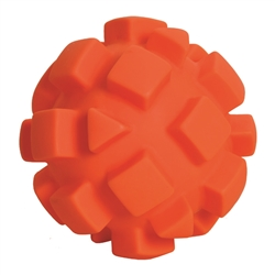 "**TEMPORARILY UNAVAILABLE** HUETER TOLEDO SOFT-FLEX® HEAVY DUTY SQUEAKER TOYS BUMPY BALL - 5.5"" - ORANGE  UPC 095467059555 4.73"