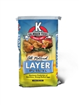 KALMBACH FEEDS LIVE STOCK FEED LAYER PELLETS ALL NATURAL 50 LB BAG.  UPC 722304205508