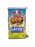 KALMBACH FEEDS LIVE STOCK FEED LAYER CRUMBLES ALL NATURAL 50 LB. BAG  UPC 722304205621