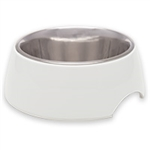 LOVING PET PRODUCTS RETRO BOWLS SMALL ICE WHITE UPC 842982071391