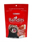 MARSHALL PET PRODUCTS BANDITS BEEF AND BACON TREATS 3 OZ.  UPC 766501003826