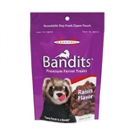 MARSHALL PET PRODUCTS BANDITS RAISIN TREATS 3 OZ.  UPC 766501003833